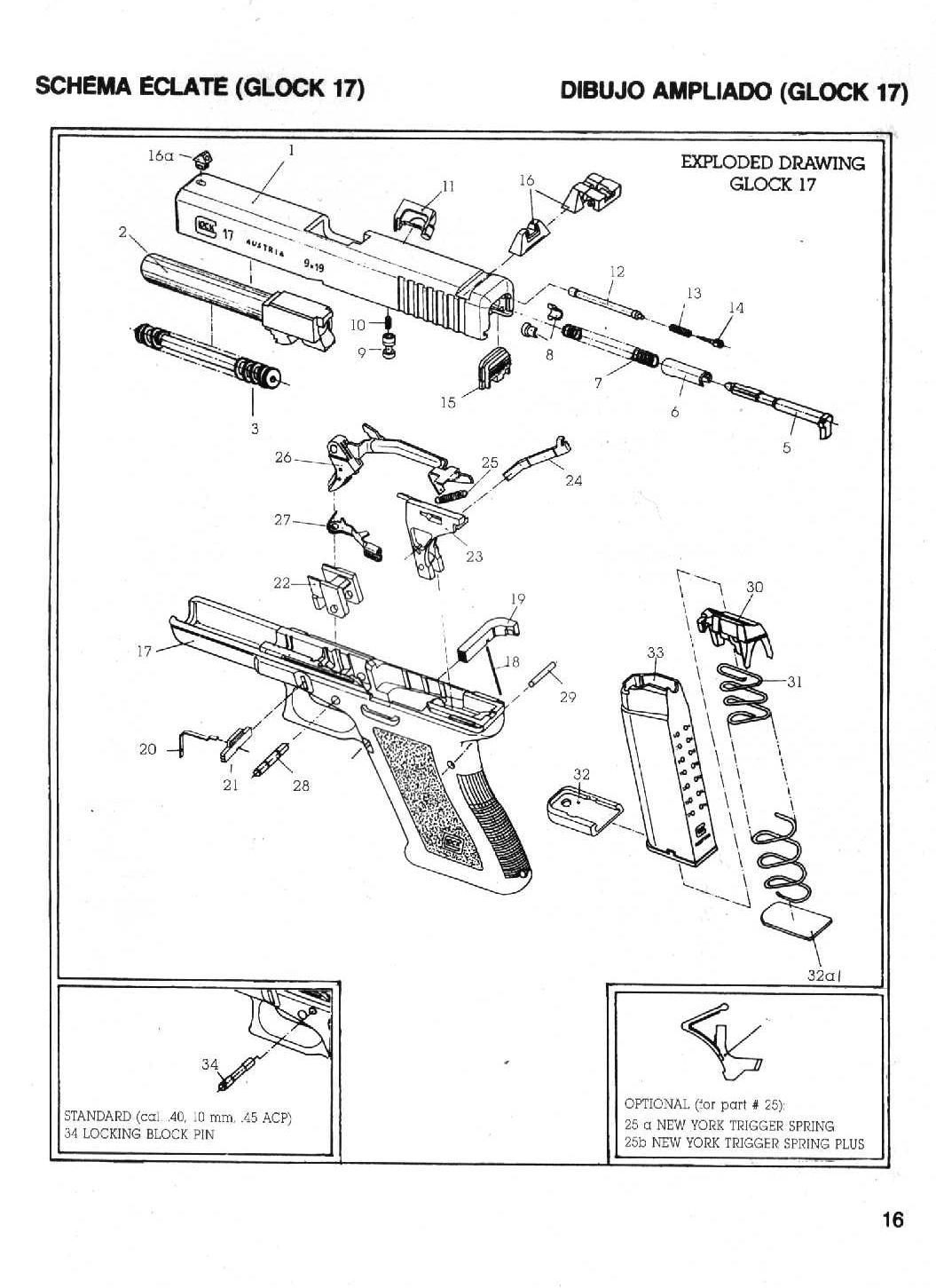 Bedienungsanleitung Glock 17 Gen3 Pulverdampf Diagram Http Tiropraticocom Esplosi Glock1